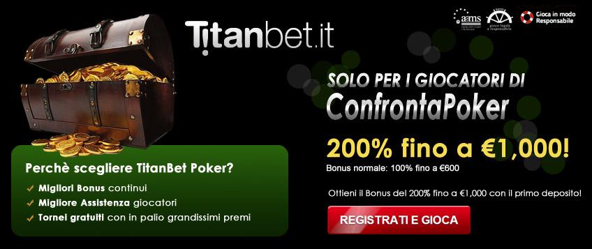 Bonus Speciale TitanBet Poker