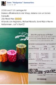 Dario Sammartino post WSOP, confrontapoker.com