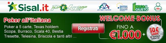 Sisal Poker online