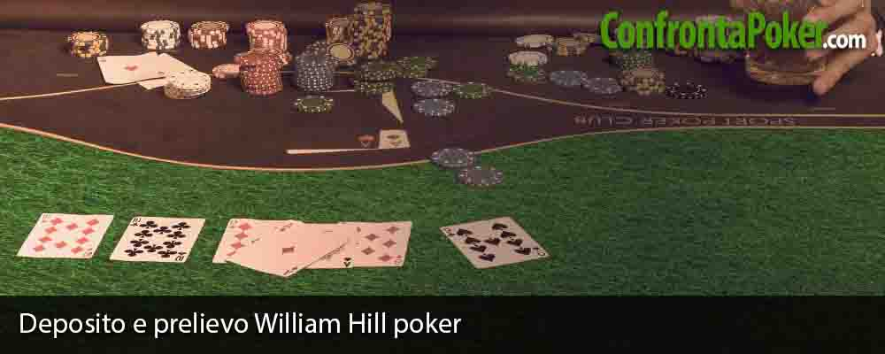 Deposito e prelievo William Hill poker