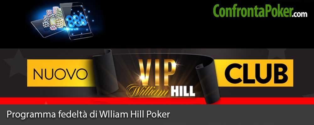Programma fedeltà di Wlliam Hill Poker