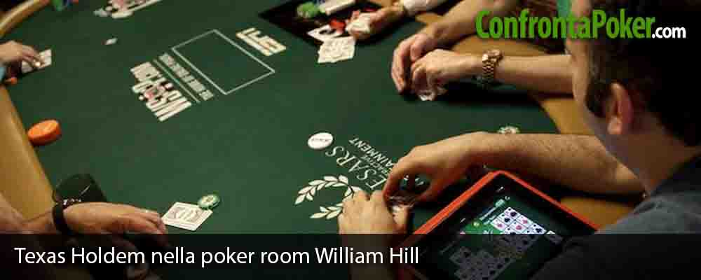 Texas Holdem nella poker room William Hill