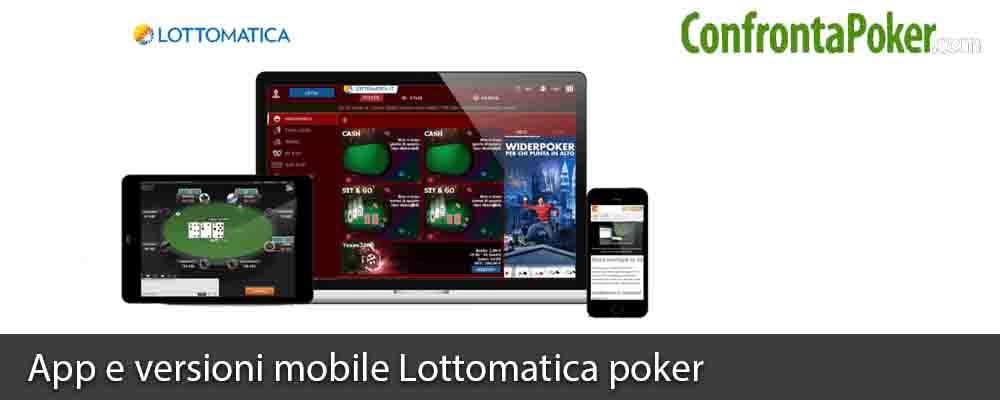 App e versioni mobile Lottomatica poker