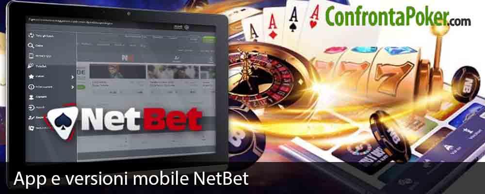 App e versioni mobile NetBet