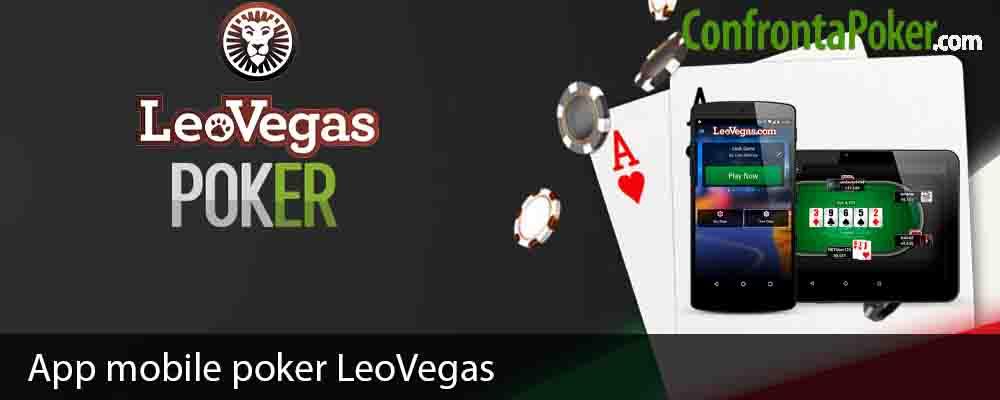 App mobile poker LeoVegas