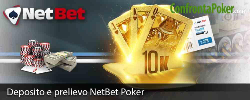 Deposito e prelievo NetBet Poker