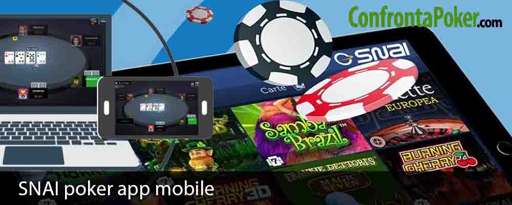 SNAI poker app mobile