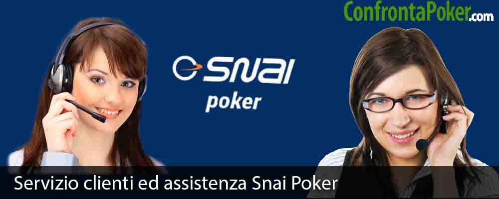 Servizio clienti ed assistenza Snai Poker