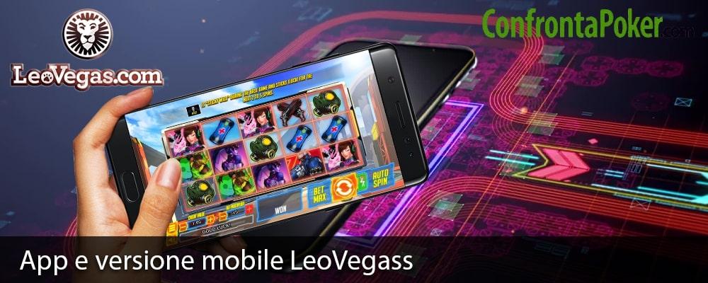App e versione mobile LeoVegas