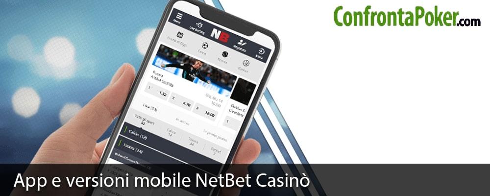 App e versioni mobile NetBet Casinò