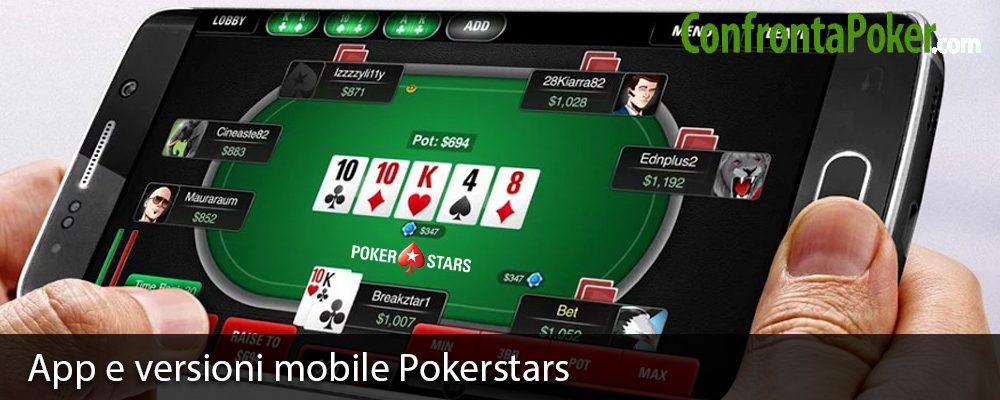 App e versioni mobile Pokerstars