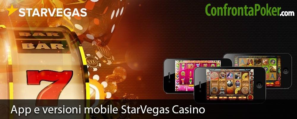 App e versioni mobile StarVegas Casino