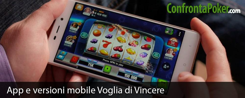 App e versioni mobile Voglia di Vincere
