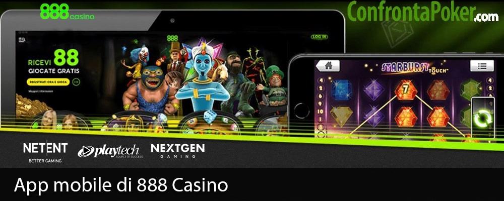 App mobile di 888 Casino