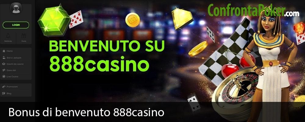 Bonus di benvenuto 888casino