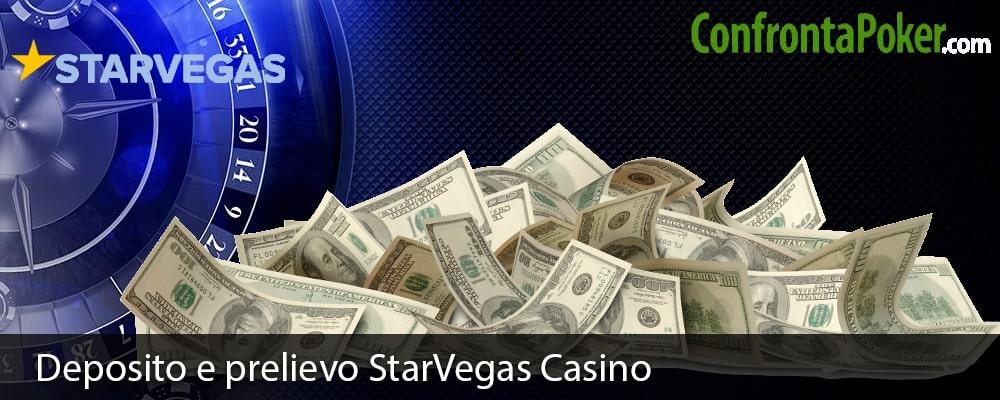 Deposito e prelievo StarVegas Casino