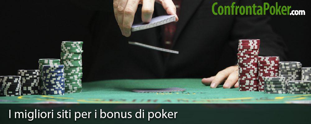 I migliori siti per i bonus di poker