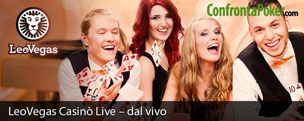 LeoVegas Casinò Live – dal vivo