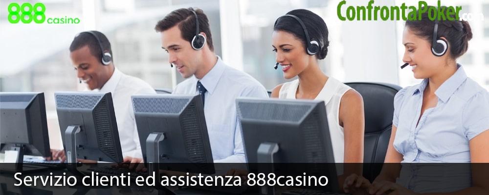 Servizio clienti ed assistenza 888casino