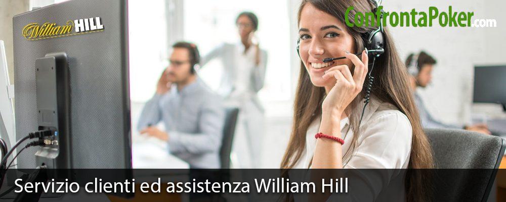Servizio clienti ed assistenza William Hill