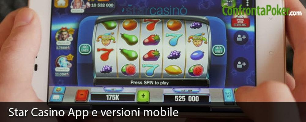 Star Casino App e versioni mobile
