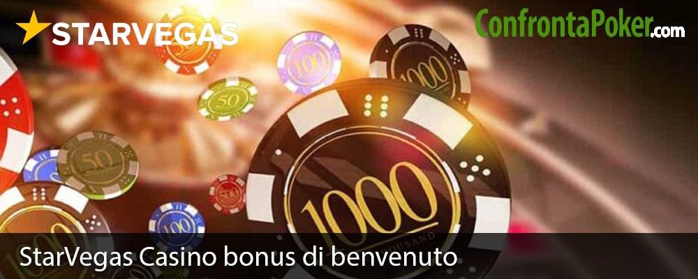 StarVegas Casino bonus di benvenuto