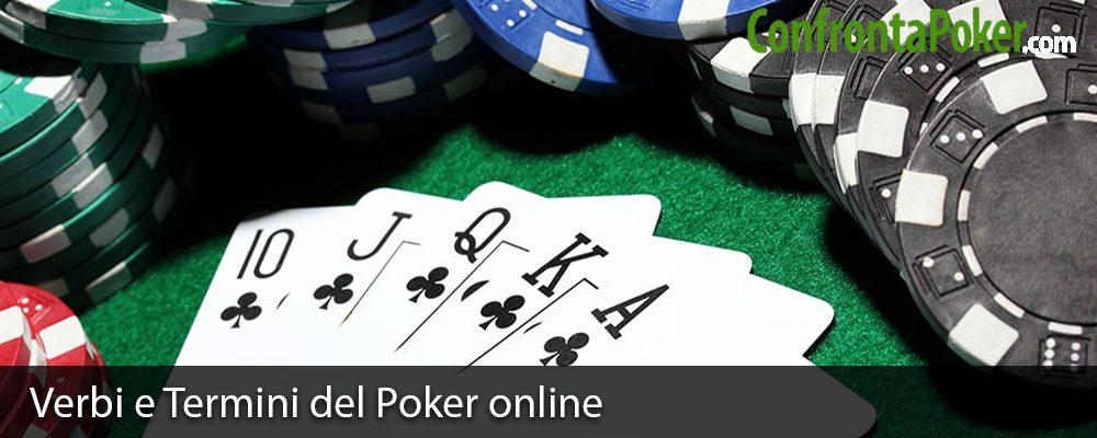Verbi e Termini del Poker online